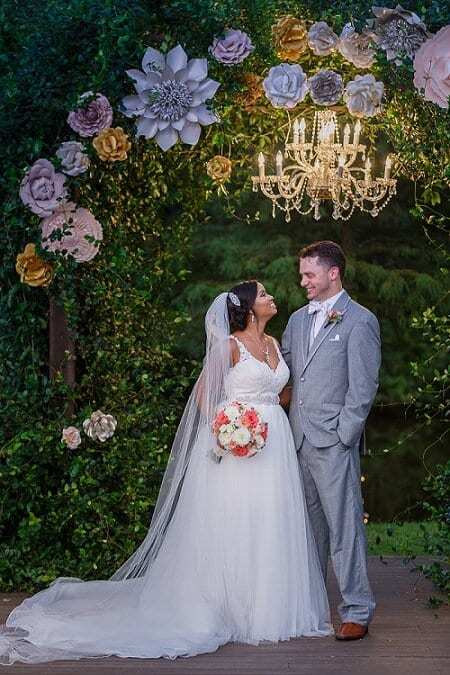 Outdoor ceremony with reception at The Carriage House in Conroe, Texas